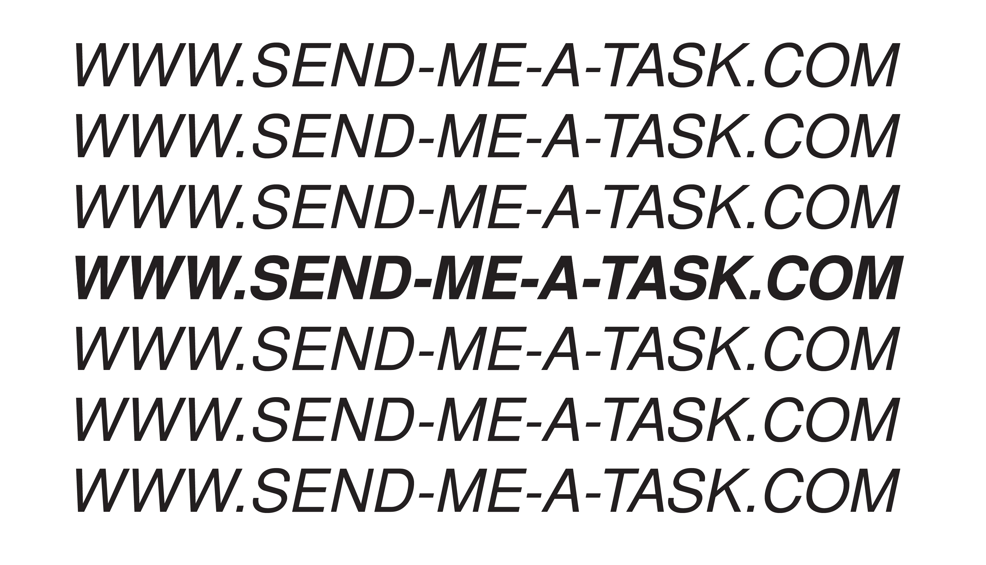 logo for send me a task